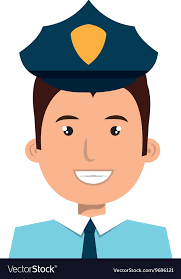 Graphic Design Office Fascinating Police Officer Cartoon Graphic Design Royalty Free Vector