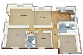 Bedroom House Floor Plan D  single floor house plans      Modern Single Floor House Designs  middot  Bedroom House Floor Plan D