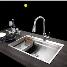 c c sus304 stainless steel kitchen sink vessel set with faucet