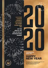 New Year Flyers Template New Year Flyer Template V9 Gold Posters Design For Photoshop