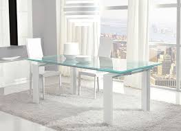 unico contemporary glass step extending dining table choice of colour thumbnail
