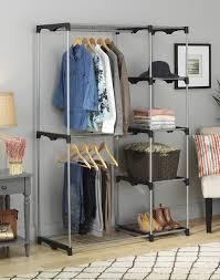 whitmor closet rod system storage rack deluxe double