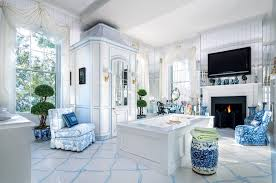 chinese chinoiserie chairs garden stool blue white bathroom ideas spa oriental style better decorating bible blog blog spa bathroom