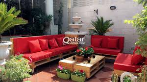 Outdoor furniture from wooden pallets qatar living
