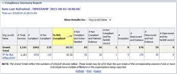 Compliance Summary Report University It