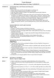 Senior Principal Software Engineer Resume Samples Velvet Jobs