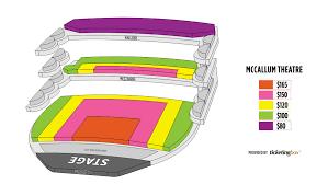 Mccallum Theater Seating Chart