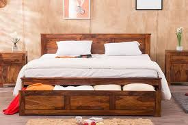 wooden furniture beds. EXTRA 10% OFF Solid Wood Essential Bed With Front Open Dual Storage Wooden Furniture Beds D
