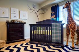 baby bedroom inspiring baby boy animal nursery decor chevron dark blue creamy waves rug solid darkwood furniture sets stuffed elephant storage four