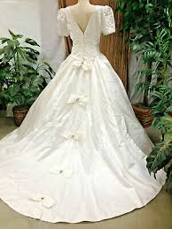 White Bonny Bridal Pre Owned Wedding Gown With Cathedral