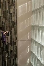 Clear glass blocks provide a clean fresh and contemporary look and bring a  lot of light