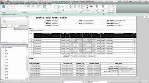 Autodesk Revit Mep Panel Schedule Templates