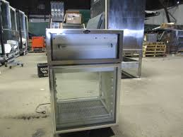 picture of randell 40024 countertop pass through display refrigerator glass doors