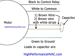 how to wire a run capacitor to a motor blower condenser hvac wiring single run capacitor wiring diagram