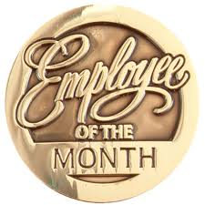 Emploee Of The Month Round Employee Of The Month Lapel Pin With Presentation Card