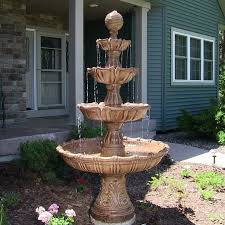 best large outdoor fountains with lights 17 best ideas about large solar garden fountains