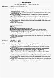 Librarian Resume Examples Simple Library Aide Sample Resume Colbroco
