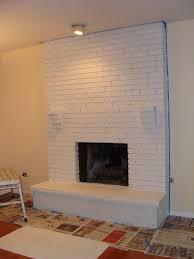 painted white brick fireplaceSimple How To Paint A Fireplace White Room Design Decor Luxury