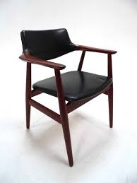 svend ge eriksen danish teak desk armchair midcentury chair 1960s