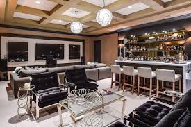 custom home bars designs. stylish home bar with lounge seating and marble counters custom bars designs