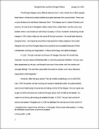 research paper genghis khan and the mongol military the mongol this preview has intentionally blurred sections sign up to view the full version