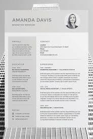 pro cv template amanda resume cv template word photoshop indesign