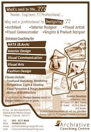archiative nata coaching centre join us for nata interior join us for nata interior design visual communication visual arts and fashion design entrance coaching
