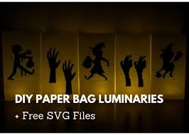 Available in svg, dxf, eps and png formats. Diy Paper Bag Luminaries Halloween Free Svg Files