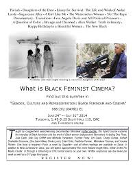 undergraduate courses black feminism cinema flyer