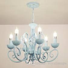 multiple chandelier modern white pink blue candle iron children s ceiling light led lamp lighting dining room bedoom study chandeliers chandelier candelabro