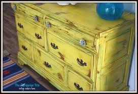 The Turquoise Iris Furniture & Art Vintage Yellow Dresser