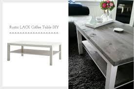 Diy rustic coffee table Farmhouse Coffee Ikea Hackers Ikea Lack Rustic Coffee Table Diy Ikea Hackers