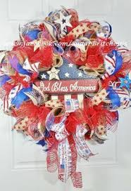 patriotic wreaths for front door4th Of July Wreaths 4Th July Bandana Patriotic And American Flag