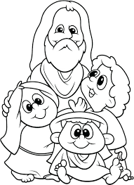 Coloring Page Jesus Love Me And All The Children In World Coloring