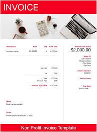 Non Profit Invoice Template Free Download Send In Minutes