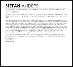 Letter Of Recommendation Mechanic Aviation Mechanic Cover Letter Sample Cover Letter