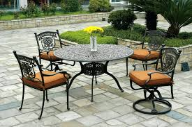 wrought iron outside furniture patio table set lovely round sets