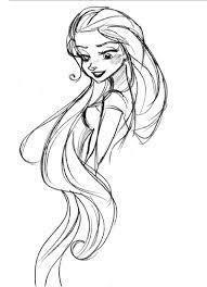 Tangled Disney Schizzi Di Personaggio Illustrazione A Matita E