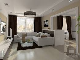 Modern Living Room Interior Design in Contemporary Style with a Light Touch  of Glamor