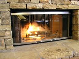 gas fireplace enclosures fireplace doors gas fireplace door open or