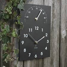 perfect outdoor clock thermometer  new outdoor