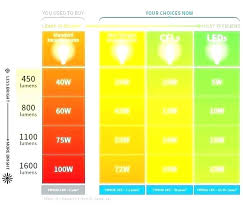 Lumen Output Comparison Chart Led Light Bulbs Comparison Pandaintl Co