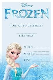 Birthday Disney Frozen Blank Birthday Party Invitation