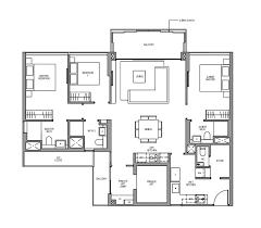 martin modern floor plan 3 bedroom premium type c5 pl