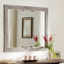 Small Picture August Grove Coastal Weathered Gray Wall Mirror Reviews Wayfair