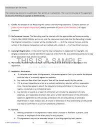 Example Of An Agreement Sample Clearance Pack