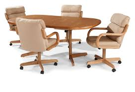 Kitchen Table And Chairs With Wheels Cheapairlineinfo - Casters for dining room chairs