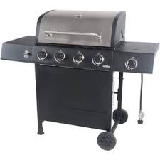 TOPS 4-Burner LP Gas Grill with <b>Side</b> Burner, <b>Stainless Steel</b>