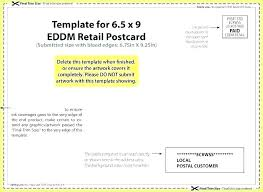 Eddm Size Chart Every Door Direct Mail Postcard Sizes Eddm Postcard Template