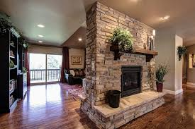 denver double sided gas with contemporary fireplace inserts family room traditional and parker granite countertops